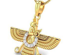 3D print model Candere The Zoroastrian Diamond Pendant
