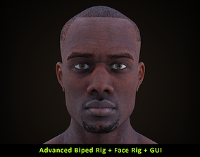 Cinematic Male 002 - Advanced Body Rig - Face 3D model 3