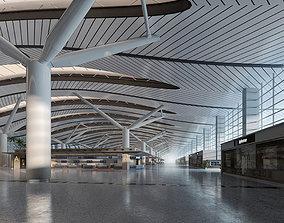 3D Airport Terminal Lobby 002