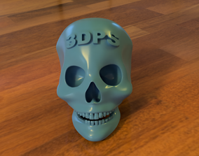 Logotip on Human Skull 3D printable model