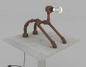 3D Table Pipe Dog Lamp