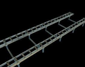 Airport cargo track roller 3D model