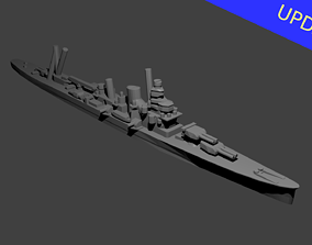 Japanese Furutaka Class Cruiser Warship 3D printable model