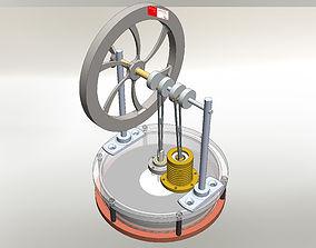 3D model Stirling engine - Simplifed