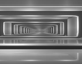 3D model low-poly Sci Fi Corridor