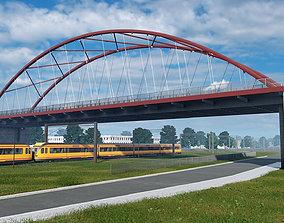 wall 3D model Arch Bridge