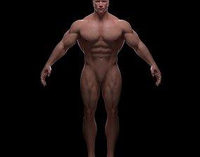 Bodybuilder base mesh 3D model