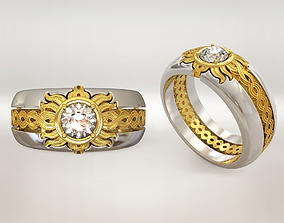 Sun wedding ring 3D printable model