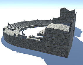 3D asset Ancient Theatre Ruins