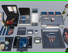 Sci fi Buttons Levers and Gear Ultimate Pack 3D asset