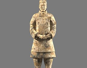emperor Terracotta Warriors Soldier Statue 3D