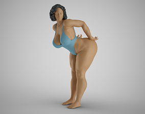 3D print model Playful Woman
