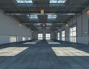 3D model Exhibition Hall Warehouse 24 interior and