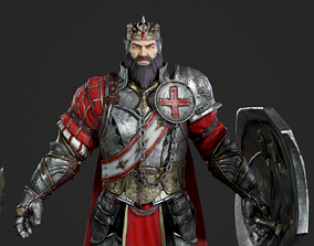 3D model King Richard the Lionhearted The king of England