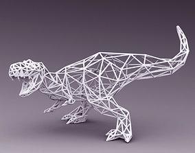 3D PRINTED MODEL T-REX-LINE-CUTS-DESIGN