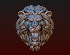 Lion head Lion grin 3D printable model