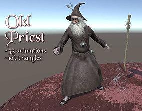 Old Priest 3D asset
