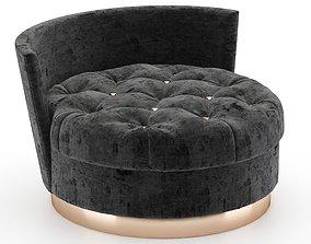 Velvet Chaise Lounge Chair 3D model