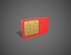 Sim Cards 3D asset