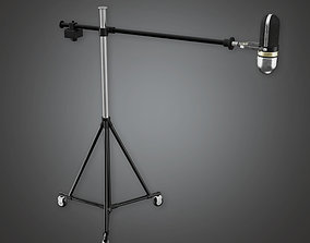 HLW - Standing Mic - PBR Game Ready 3D asset