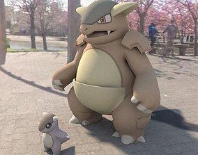 Pokemon Kangaskhan 3D asset