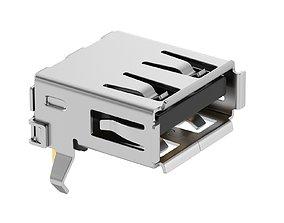 3D model USB Type A Female