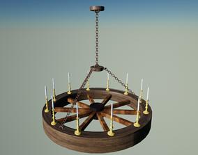 3D model furniture Medieval Chandelier