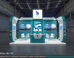 exhibition 3d model 6x3m 004 booth