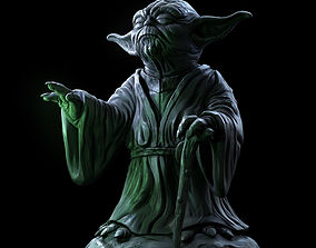 Yoda Sculpture fan 3d print model statue