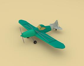 3D asset Airplane cartoon - 05