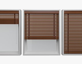 Wood blinds window 3D model