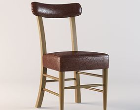 Leather chair 3D model vray