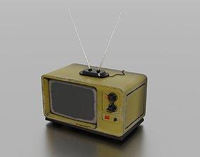 Old TV 3D asset realtime PBR