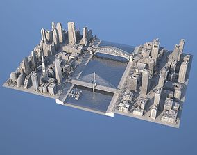 3D model game-ready Karton City