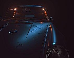 3D Black Porsche Scene Studio for Cinema 4D and Corona
