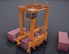 straddle crane 3D asset realtime