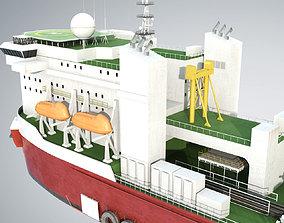Pipelay Crane Vessel SK 3000 3D model