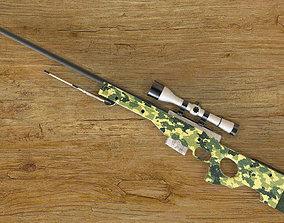 3D AWP Sniper Rifle