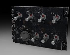 F16 AVIONICS Panel 3D model