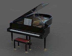3D asset Grand Piano