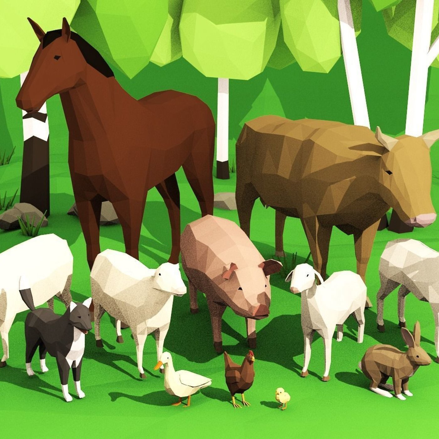 Domestic animals pack