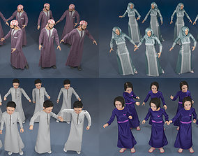 Arabic people static 16 x different models 128 poses
