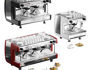 Casadio Undici coffee machines with croissants - 3 models