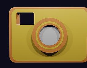 Low poly camera symbol 1 3D asset