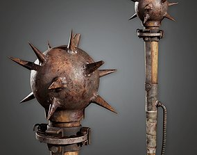 PAM - Post Apocalyptic Mace - PBR Game Ready 3D model