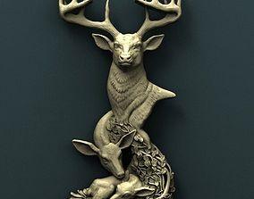 Deer 3d stl model for cnc other