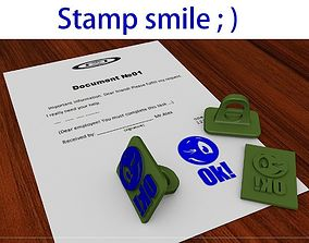 Smile stamp print 3D printable model