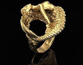 fashion Ring Mermaid 3D printable model