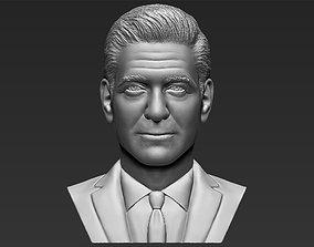 George Clooney bust 3D printing ready stl obj formats
