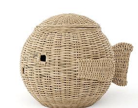 3D model Fish wicker basket